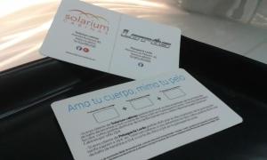tarjeta peluqería promoción